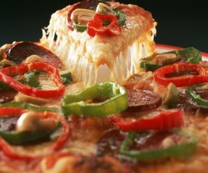 Hot pizza with pepper
